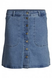 14032299 VILAGOS DENIM SKIRT LightBlueDenim Front high