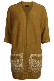 VILANDIN KNIT CARDIGAN HarvestGold high