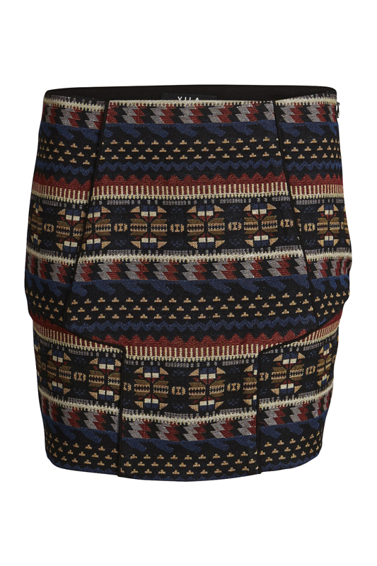 VINALI SKIRT Black PatternMULTICOLOR high